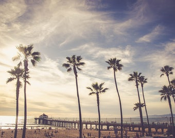 Manhattan Beach Pier, Fine Art Photo Print, Sunset Photo, Home Decor