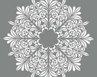 "18"" x 18"", Americana Decor Stencils, Fleur Medallion, Reusable Stencil"