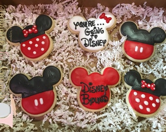 Disney Trip Announcement Cookies - You're going to Disney!