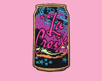 Neon La Croix Embroidered Iron-On Patch