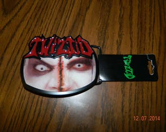 "New- Offically Licensed ICP ""TWIZTID "" Freek Show Metal Belt Buckle"