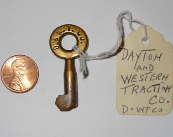 Dayton and Western Traction Co. RR Key