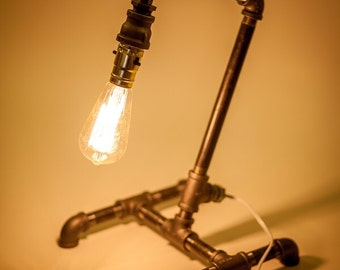 Industrial Steam Punk Pipe Lamp