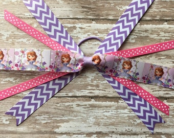 Disney Junior's Princess Sofia Hair Bow- Sofia the first bow - Sofia the First Hair Bow - Sofia the First Bow - Sofia Bow - Sofia Hair Bow