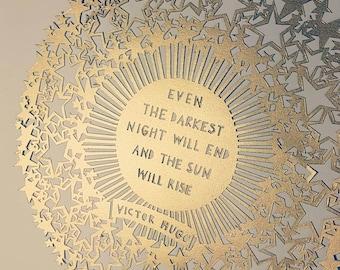Victor Hugo Original Papercut