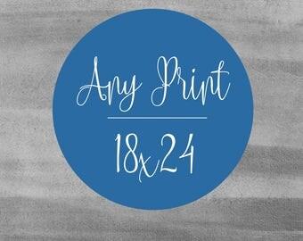 Large Art Print - 18x24