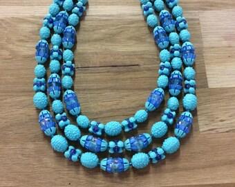 Gorgeous Aqua Beaded Necklace