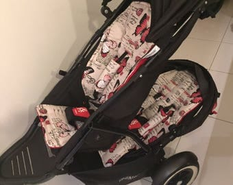 Phil and Teds front & rear seat pram liners and 2 strap cover sets.