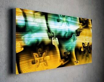 Modern Art, Canvas art, gnarly Art, abstract art, Living Room Decor , Wall Art, Colorful Print