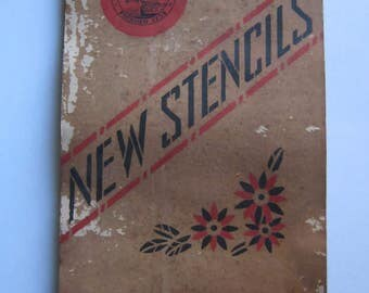 Antique 1920's DEVOE & RAYNOLDS Co. Inc. NEW Stencil Book with Stencils