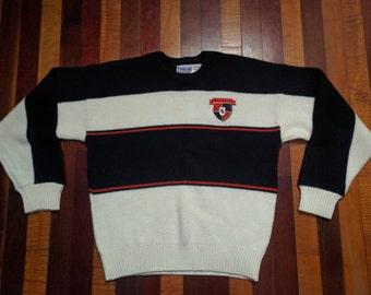 Vintage 80s Cliff Engle Casuals Cincinnati Bengals Sweater Medium NFL Authentic Pro Line