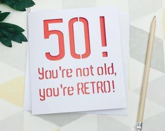 50th birthday card, 50th birthday, 50 birthday card, 50 birthday, age 50, card for him, dad 50, dad birthday card, birthday card him,