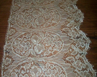 Antique lace french origin 1920 silk or rayon vintage supplies