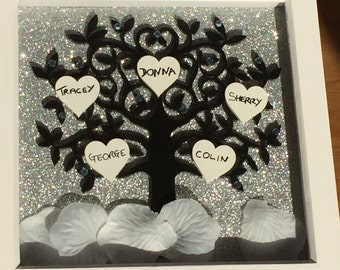 Family Tree Frame, Personalised Family Frame, Gift for the Home, Gifts for Her, Gifts for Him.