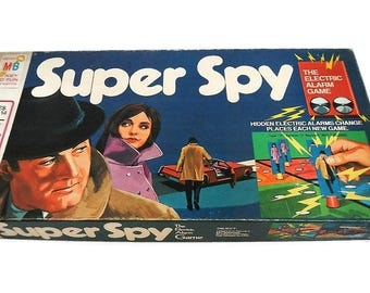 Vintage Super Spy Game - Milton Bradley, 1971 - #4135, original pieces, classic board game, family game night, 2-4 players, ages 8-adult