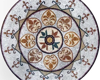 Stone Medallion Accent - Damask