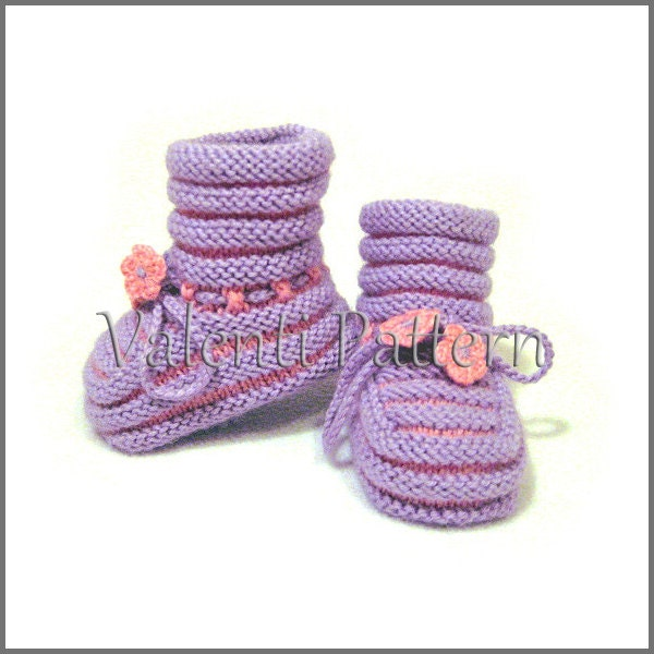 PATTERN Baby Knitting Baby Booties pattern for baby girl