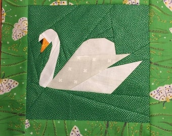 Swan Paper Piecing Pattern by Judy Gauthier