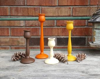 Fall Wood Candleholders