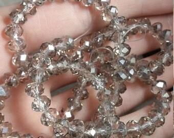 4x6 swarowski crystal rondelle beads,swarowski crystal beads,faceted swarowski crystal beads,crystal glass rondelle beads