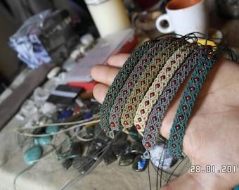Macrame bracelet with carneol..