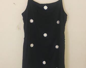 LBD daisy slip dress
