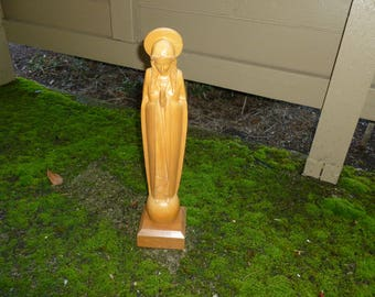 Vintage Wood Madonna From The 1970's