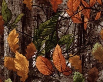 Timeless Treasures Autumn Flannel Camouflage Fabric