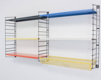 Tomado wall unit vintage Dutch design MCM wall unit shelves