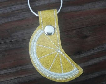 Lemon Citrus Wedge Keychain Gift