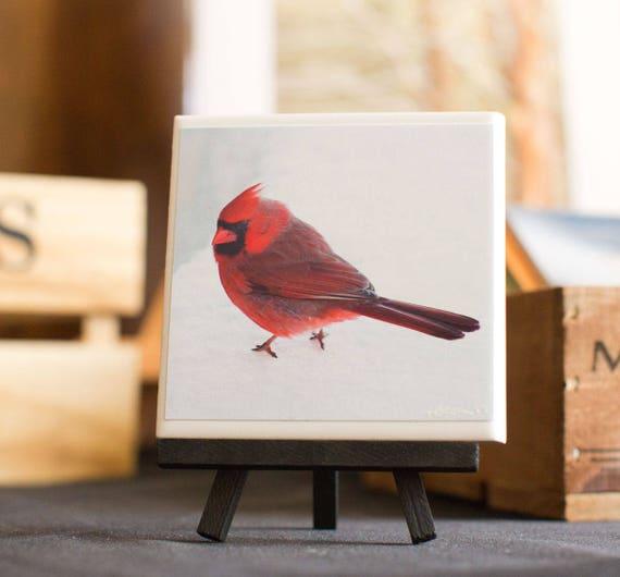 Red Cardinal Decorative Tile 4.25 x 4.25