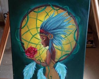 Native Indian Acrylic Painting