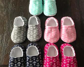 Anchor baby booties // Anchor crib shoes