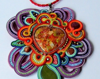 Pendant soutache Multicolor