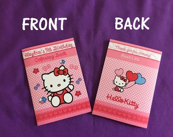 12 Personalized Hello Kitty Coloring Books, Party Favors