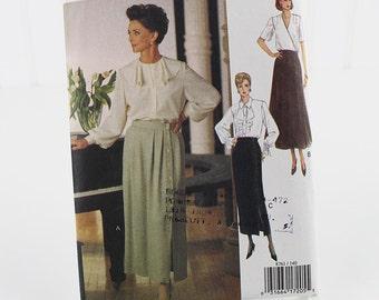 Vogue Button Front Skirt Patterns, Uncut Sewing Pattern, Vogue 8761, Size 14-18