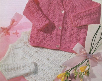Baby Knitting Pattern VINTAGE LACY CARDIGAN pdf