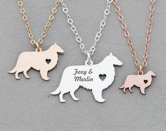SALE • Sheepdog Necklace • Sheltie Dog Necklace • Shetland Dog • Farm • Family Dog Pendant Personalize • Birthday Gift •Personalize Pet Name