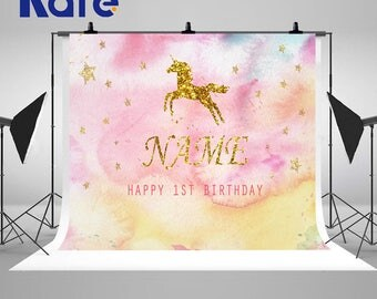 Unicorn Photography Backdrops Newborn Baby Custom Photo Backgrounds for Children Birthday Party Studio Props