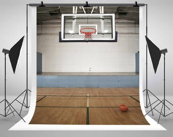 Basketball Goal Court photography Backdrops No wrinkles Photo Backgrounds for Sports Studio Props WY00088