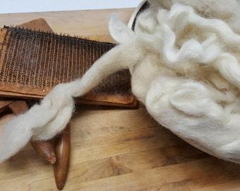 "New Zealand Merino/Cross bred Silver Wool ""Honey"" 100% virgin Wool Roving Natural color combed top Wool.Felting-Spinning-Rug hooking"