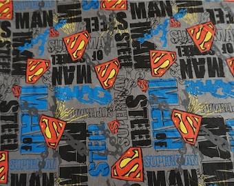 100*170cm Superhero Superman Fabric,Cotton Knit Fabric,Superman Symbol Fabric