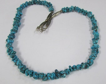 "Turquoise Nugget Necklace 20 1/2"" Length"