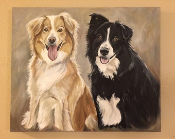 Custom Pet Painting Custom Pet portrait , large and extra large sizes