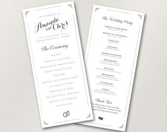 Wedding Program // Elegant Wedding Program // Catholic Wedding Program // Unique Wedding Program // Custom Colors // Wedding Stationery