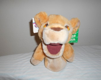 """SALE 14! Disney Lion King Puppet Plush """"Kiara""""Character Lion Cub From The Movie/Great Pretend Play!/New With Tags/Very Soft and Plush!"""