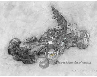 Batmobile Tech Sketch