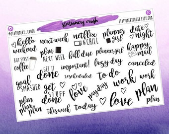 Planner words - decorative stickers