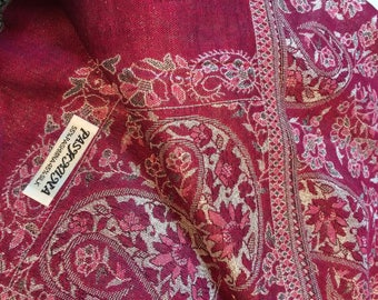 shimmery pink white and silver pashmina