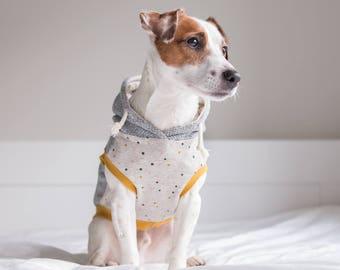 Polkadot dog hoodie Dog clothes, Dog coat, Polkadot Dog Hoodie, Custom tailored Dog Sweater, Dog Pajama, Small dog clothes, Dog Coat, hoodie